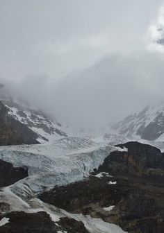 above the athabasca glacier.