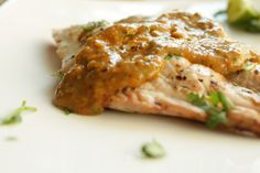 Grilled Harmour with Spicy Cumin Tomato Sauce (flourless, grain-free, dairy-free)