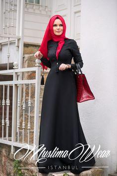 Muslima Wear 2016 Black DESSEN  Dress