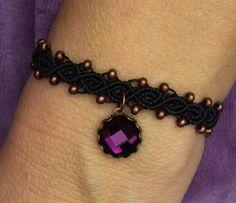 Armbänder - * Armbändchen Makramée Kupferperlchen * - ein Designerstück von crochet bei DaWanda