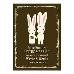 Bunny Rabbits Wedding Save the Date Announcement, Want it cheaper? Use this link for coupons: https://www.zazzle.com/coupons?rf=238077998797672559