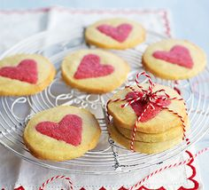 Slice-and-bake #Valentine's #biscuits