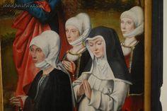 Frankfurt, Städelsche Kunstsammlung  Schwarze Mäntelchen für Frauen finden sich schon 1471 in Bildquellen.