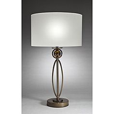 @Overstock - Aztec Lighting Contemporary 1-light Brushed Antique Bronze Table Lamp - Illuminate your room while adding plenty of contemporary style with this modern bronze table lamp. This elegant lamp works well for reading, filling out paperwork, or playing board games. The beautiful cream shade complements many different decors.    http://www.overstock.com/Home-Garden/Aztec-Lighting-Contemporary-1-light-Brushed-Antique-Bronze-Table-Lamp/6492156/product.html?CID=214117  $59.39