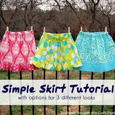 Simple Skirt Sewing Tutorial - Select a few fabrics from TheFabricExchange.com's page and customize your own homemade skirt!