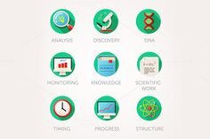 Science icons set by Di Bronzino on @creativemarket