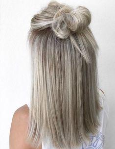 Top de nó e loiro 2 dos meus favoritos allyshawatkinshair colors - Pretty Haarfarben - Cabelo Blonde Hair Dye Colors, Dyed Blonde Hair, Brown Blonde Hair, Blonde Ombre, Gray Hair, Silver Blonde, Silver Hair, White Hair, Blue Hair