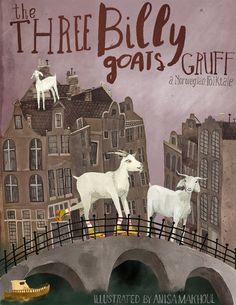The three billy goats gruff//book// illustration// amsterdam