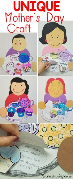Mother's Day - Tray of Traits Mothers Day Poems, Mothers Day Crafts For Kids, Holiday Crafts For Kids, Mothers Day Cards, Diy Crafts For Kids, Homemade Teacher Gifts, Ideas Hogar, Mom Day, Mother's Day Diy