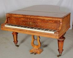 Antique Hagspeil Victorian Baby Grand Piano with B : Lot 126