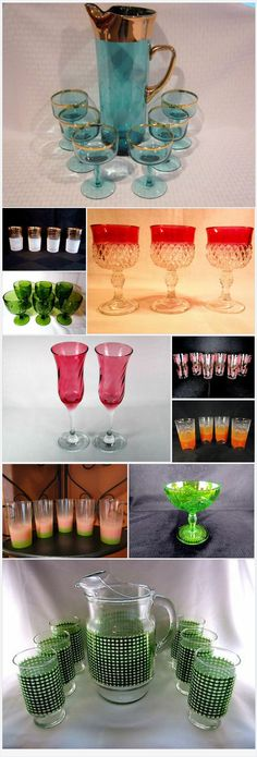 The Onion and the Olive has a beautiful collection of #vintage #glassware.