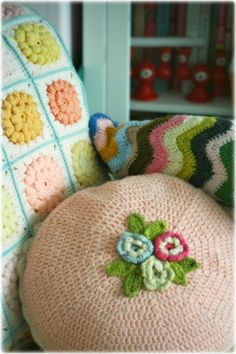 Coco Rose Diaries - must make a cushion like this one day! Reminds me of something in the past.