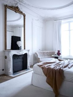 Home Decor romantic bedrooms - parisian style