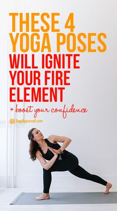 Yoga Poses & Tutorials : The fire element is a powerful source of change, confidence, and transformation. Check out these 4 yoga poses to ignite your fire and boost confidence! Bikram Yoga, Ashtanga Yoga, Pilates Yoga, Iyengar Yoga, Pilates Workout, Fitness Tracker, Slim Yoga, Body Women, Fitness Motivation