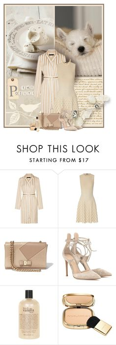 """""""Think positive"""" by anna-survillo ❤ liked on Polyvore featuring The Row, Alexander McQueen, Salvatore Ferragamo, Gianvito Rossi, philosophy, Dolce&Gabbana and Kate Spade"""