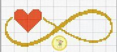 schema punto croce infinito - Cerca con Google