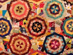 Spring Equinox quilt...what a happy piece!  This pattern has such potential  From Niftyquilts
