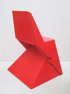 Papton Chair by Fuchs+Funke Industrial design.Simple as a paper plane.A few foldings transform a composite panel into a real lightweight chair of 2kgs only.