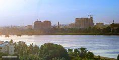 The Blue Nile at dawn, Khartoum   النيل الأزرق عند الفجر، الخرطوم #السودان   (By Johnny Templing)   #sudan #khartoum #bluenile #dawn #nile