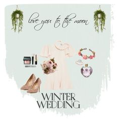 """Winter Wedding"" by anaziziah on Polyvore featuring Head Over Heels by Dune, Valentino, Bobbi Brown Cosmetics, Vera Wang, Amie and Hiho Silver"