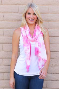 Pink Tie Dye Scarf