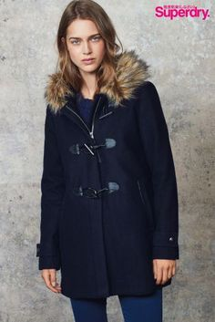 Superdry Brooklyn Duffle Coat - Midnight | very.co.uk | Sales ...