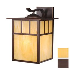 Cascadia Lighting Mission 13-in Burnished Bronze Outdoor Wall Light - Lowes