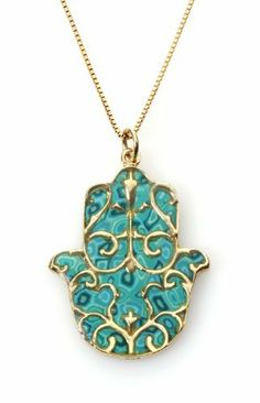 Protective Gold Hamsa Necklace with Fleur de Lis Overlay - Turquoise Color Adina Plastelina Handmade Jewelry. $134.99. Millefiori, Italian for '1000 Flowers', is the extraordinary technique used by Adina Plastelina to handcraft the enduring jewelry collection. Polymer clay is manually moulded into various designs and coated with rhodium and transparent enamel to achieve the glimmering, lasting results. Incredible handmade hamsa pendant, accented by a colorful p...