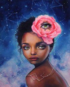 """Art is a Feeling - happydartist:   """"Constellation"""" oil on birch. ..."""