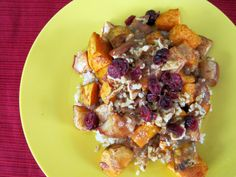 Spiced Cider Apples and Sweet Potatoes Over Rice | Skinny Muffin
