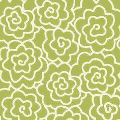 Heather Mulder Peterson - Seaside Cottage - Graphic Blooms in Grass.  Kitchen curtains?