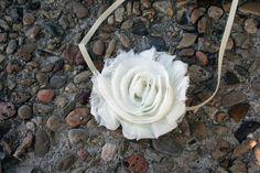 Ivory Shabby Chic Flower Headband for baby by InspiredbyZoelle, $4.00