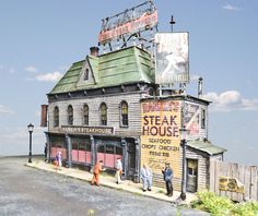 Rankin's Steakhouse HO Scale Kit - Click Image to Close
