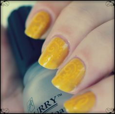 Tes Did It Nails: 31 Day Challenge : Day 3 : Yellow Nails