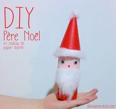 Roll paper santa  DIY Père Noel en rouleau de papier toilette Paper Roll Santa Claus Activity for kids http://allomamandodo.com/diy-pere-noel-super-activite-les-enfants-rouleau-papier-toilette/