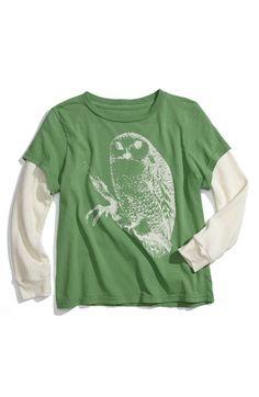 Peek 'Owl' Layered Sleeve T-Shirt: FAVORITE!