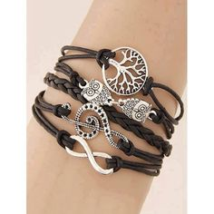 💗🔆👗 Get that chic and boho look and it's on SALE ❣💗👝 💗 ALL 250.00 ON HAND! 💗  Music Notation Life Tree Owl Braided Bracelet - Black PRICE: Peso 250.00  #thefunstuffshop #greatdeals #onlineshop #shopping #summer #jewelries #boho #bohemian #watches #accessories