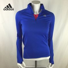 """Adidas Zip Up Pullover Running Jacket This is such a cool Adidas jacket. Has a zipper and thumb slits on the sleeves. Really soft fabric. In great used condition, 15.5"""" across the chest and 22"""" long   Save 20% Off Bundles!   Sorry, No Trades!   Thanks For Stopping By!  Adidas Jackets & Coats Utility Jackets"""