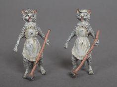 VIENNE - Début du XXème s. Les soubrettes Deux chattes tigrées
