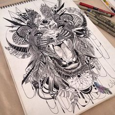 eye of the tiger. repost designs are available on t-shirts and hoodies  #art #artist #artwork #commision #tiger #tattoo #ink #penonpapper #tigerart #tribal #blackandwhite #feathers #dreamcatcher #wip #artgallery #art_empire #artforsale #art_collective #art_boost #artist_sharing #like4like #worldofartists #dm #sfs
