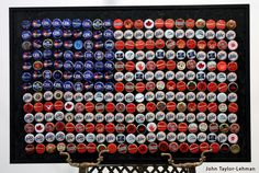 Flag ~ Bottle Cap Art by John Taylor-Lehman