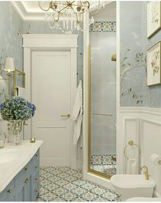 upstairs bathroom remodel is entirely important for your home. Whether you pick the minor bathroom remodel or diy home decor for apartments, you will create the best mater bathroom for your own life. Bad Inspiration, Bathroom Inspiration, Bathroom Renos, Small Bathroom, Gold Bathroom, Bathroom Accents, Bathroom Yellow, Bathroom Renovations, Wall Paper Bathroom