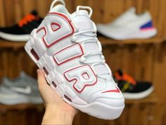 low priced 174e3 2510a Buy Nike Air More Uptempo White Varsity Red 921948-102 Low Price-3