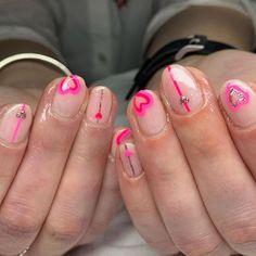 San Valentin Nails 2021 #nails #sanvalentin #love #manicura #manicure #hearts #art #amor San, Nails, Love, Fingernail Designs, Finger Nails, Amor, Ongles, Nail, El Amor