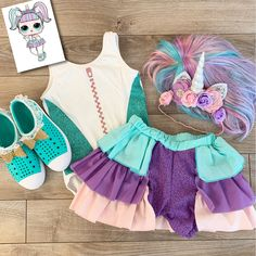 Doll inspired outfit for birthday party or dress up costume play Bday Girl, Daughter Birthday, Dress Up Costumes, Girl Costumes, Doll Party, Lol Dolls, Christmas Baby, Doll Clothes, Kids Outfits