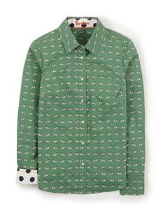 The Shirt WA517 Shirts at Boden This has a dog print - I like dogs on about anything, also like the polka dot lining of collar and cuffs