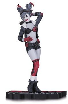 DC+Comics+Red,+White+&+Black+statuette+Harley+Quinn+DC+Collectibles