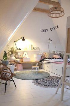 Emmas Dachzimmer # Kinderzimmer # skandinavisch # g - Mode Schmuck Trends - - Baby Room Furniture, Baby Room Decor, Bedroom Decor, Design Bedroom, Bedroom Colors, Cheap Furniture, Rustic Furniture, Luxury Furniture, Antique Furniture