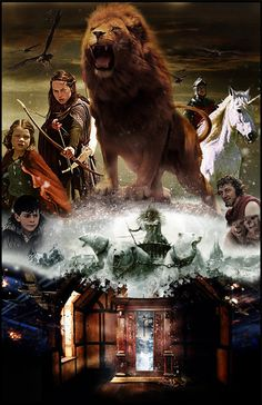 The Lion The Witch and The Wardrobe. Written by C.S Lewis. Such a beautiful illustration of Aslan the Lion as God.