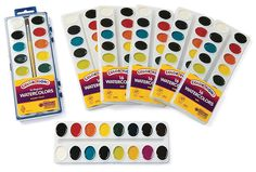 16 Color Best Value Washable Watercolors - Set of 6 Refills - Item # WRFL16ST